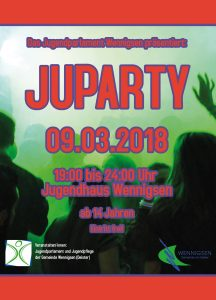 Plakat zur JUPARTY 2018